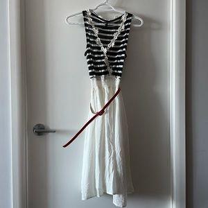 NWOT NAF NAF Dress and Belt from Paris